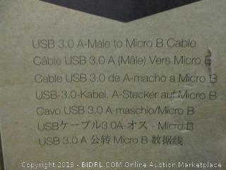 USB 3.0 A-Male to micro B Cable