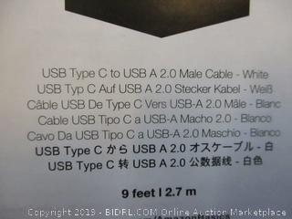 USB Type C tp USB to USB A 2.0 Male Cable