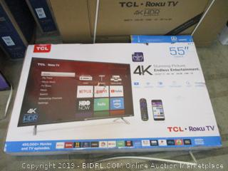 """TCL Roku TV 55"""" See Pictures"""