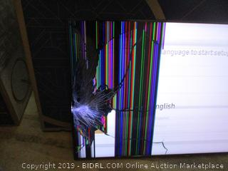 "Samsung QLED 65"" Cracked Screen See Pictures"