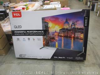 """TCL QLED 65"""" See Pictures Cracked Screen"""
