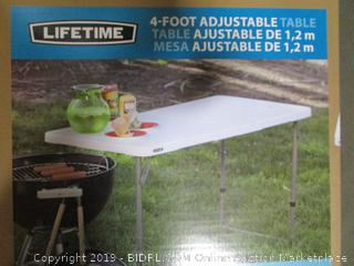 Lifetime 4 Foot Adjustable Table