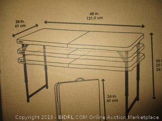 Lifetime 4 Foot Adjustable Table