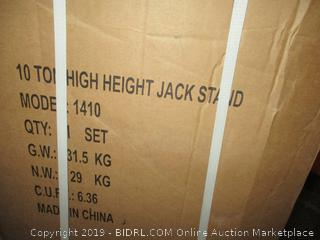Sunex 1410 10-Ton, High Height, Pin Type, Jack Stand (Retail $214.00) - Incomplete Set
