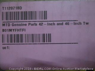 MTD Genuine Parts 42-Inch and 46-Inch Twin Bagger (Retail $322.00)