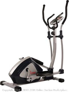 Sunny Health & Fitness Magnetic Elliptical Trainer Machine w/ Tablet Holder, LCD Monitor, 287 LB Max Weight and Pulse Monitoring - Endurance Zone - SF-E3804 (Retail $315.00)