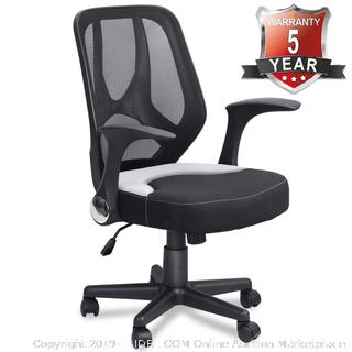 mid-back office chair adjustable height black (online $129)