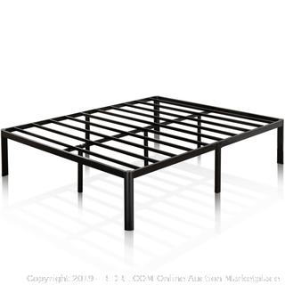 Zinus Van 16 Inch Metal Platform Bed Frame with Steel Slat Support / Mattress Foundation, King (online $94)