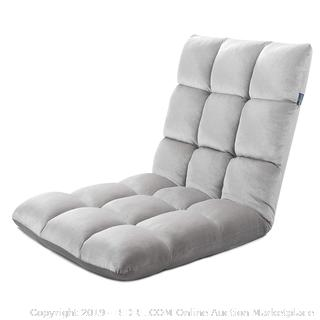 floor chair folding soft chair Gray (online $82)