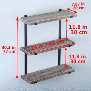 "Industrial 3-Tiers Shelves 24"" shelves Factory Sealed  (online $88)"