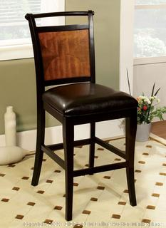 Counter height chair with cushion 2Pac Factory sealed (online $181)