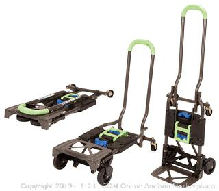 Cosco Shifter 300-Pound Capacity Multi-Position Heavy Duty Folding Hand Truck and Dolly, Green 1 count (online $64)