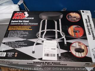 Torin Big Red Swivel Bar Stool / Shop Seat, Black