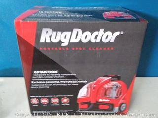 Rug Doctor Portable Spot Cleaner Vacuum, Small, Red (online $143)