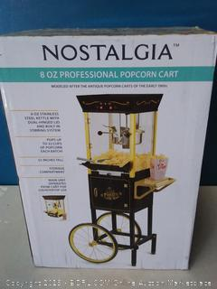 Nostalgia CCP510BK Vintage Professional Popcorn Cart-New 8-Ounce Kettle-53 Inches Tall-Black (online $175)