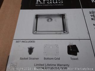 Kraus KHU10123 23 Inch Undermount Single Bowl Kitchen Sink(Factory Sealed) COME PREVIEW!!!! (online $167)