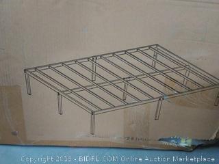 Best Price Mattress Queen Bed Frame - 14 Inch Metal Platform Beds w/ Heavy Duty Steel Slat Mattress Foundation (No Box Spring Needed), Black (online $89)