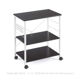 Mr IRONSTONE® 3-Tier Microwave Stand Storage Cart with Wheel (online $59)