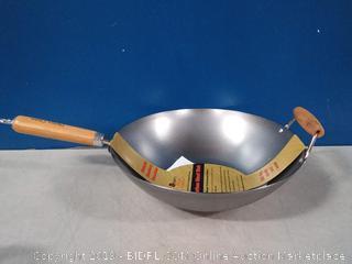 Helen's Asian Kitchen 14 inch carbon steel Wok