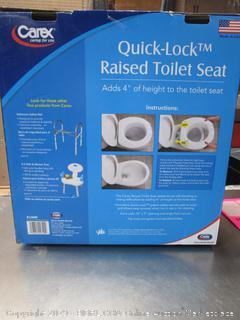 Carex Quick Lock RAised Toilet Seat