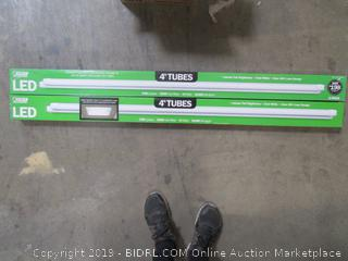4pk: Feit 4-foot Tubes LED 1700-Lumen, 4100K Cool White and only 14W