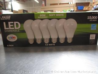 Feit LED Dimmable Soft White 9.5W/60W Light Bulbs
