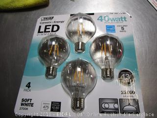 Feit Conserv-Energy LED 5W/40W Globe Vintage Light Bulbs