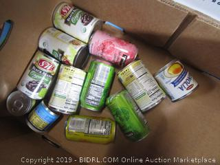 WHOLE PALLET: Food Lot - Beans, Sparkling Water, Condensed Milk, Canned Fruit, Chili, 60# Mayonnaise, etc.