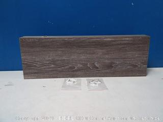 24in gray wall shelf