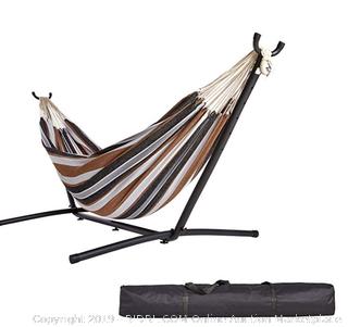 fabric double hammock with stand amazonbasics