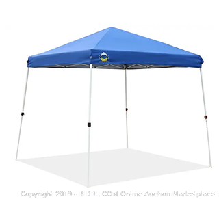 Crown Shades One Touch 10 x 10 canopy blue