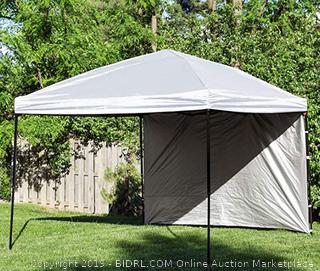 punchau pop-up canopy tent white 10x10