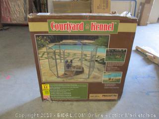 Courtyard kennel pet enclosure