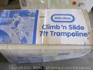 Little Tikes climb n slide 7 ft trampoline