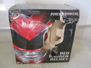 Power Rangers red helmet toy - box damage
