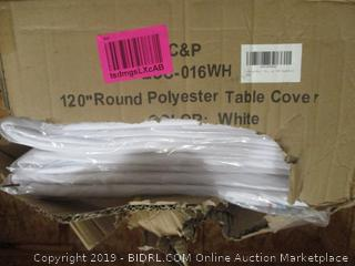 Round Polyster Table Cover
