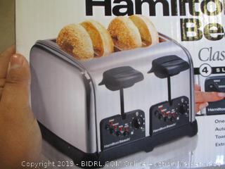 Hamilton Beach Classic Chrome 4 Slice Toaster