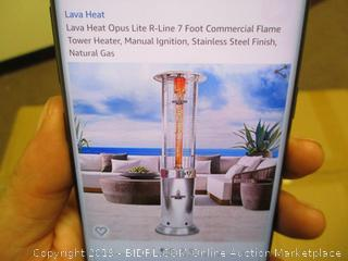 Lava Heat Opus Lite R-Line 7 Foot Commercial Flame Tower Heater (Retail $1,449.00)