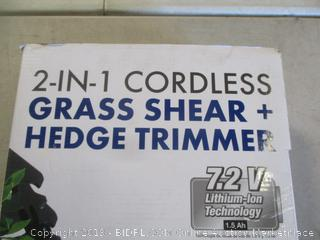 2 in 1 Cordless Grass Shear and Hedge Trimmer