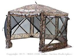 MasterCanopy Escape Shelter, 6-Sided Canopy Portable Pop up Gazebo Durable Screen Tent Bug and Rain Protection (6-8 Person),Camouflage (Retail 229.95$)