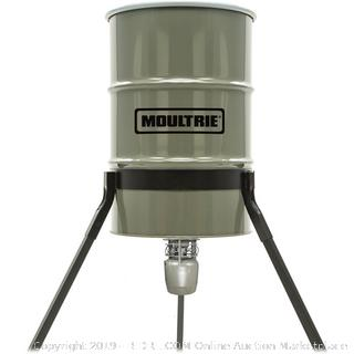 Moultrie 55-Gallon NXT Tripod Deer Feeder barrel (Possibly Incomplete/ Retail 290.75$)