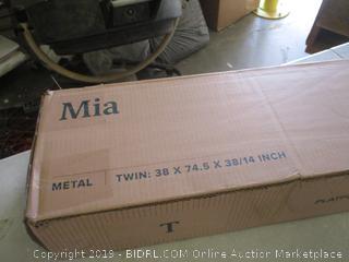 Mia Metal Twin Platform Bed