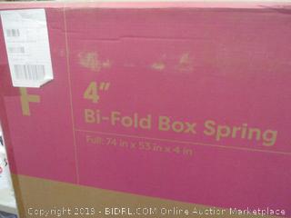 "4"" Bi-fold Box Spring Full"