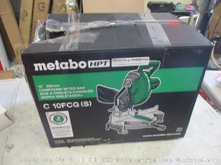 Metabo Compound Miter Saw powers on