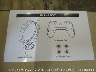 Wired Headset , Controller grip and thumbs grips