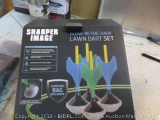 Sharper Image Glow in the Dark Lawn Dart Set