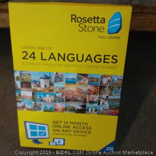 Rosetta Stone Learn one of 24 languages