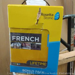 Rosetta Stone French box condition may vary