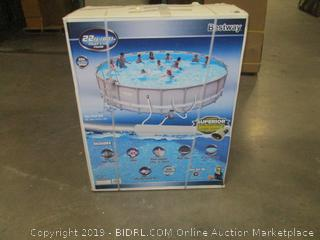 "Bestway Power Steel 22'x52"" Frame Pool Set"