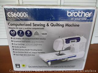 Brother Sewing and Quilting Machine, CS6000i, 60 Built-In Stitches (Powers On) (Retail $180)